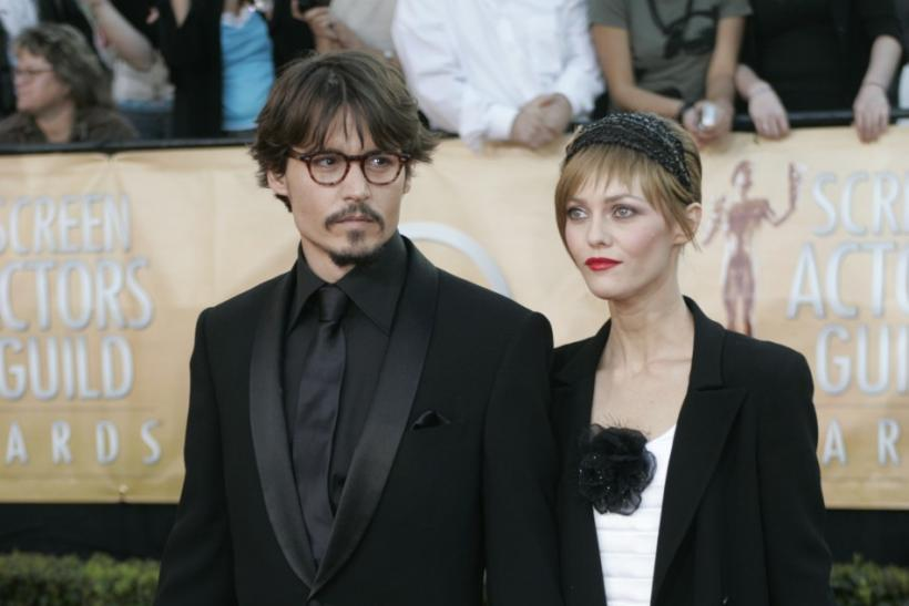 Actor Johnny Depp and partner Vanessa Paradis