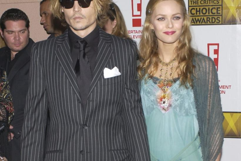 ACTOR JOHNNY DEPP AND PARTNER VANESSA ARRIVE AT CRITICS CHOICE AWARDS