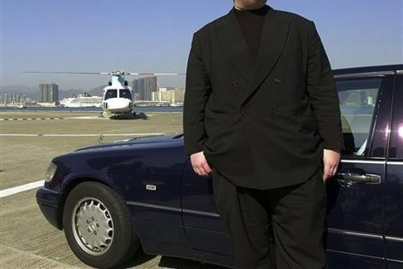 German internet millionaire Kim Schmitz is seen in Hong Kong in 1999.