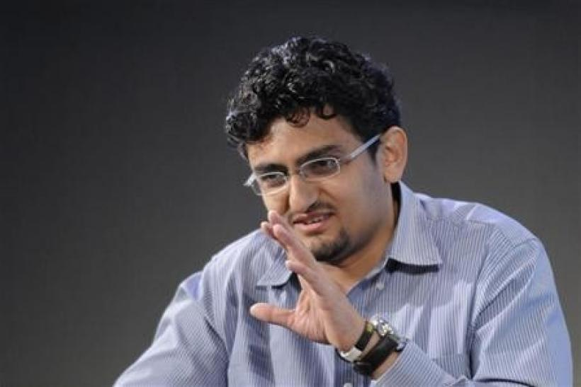 Internet activist Wael Ghonim of Egypt participates in a panel discussion on youth, jobs and growth in the Middle East and North Africa, during the International Monetary Fund and World Bank Spring Meetings at IMF headquarters in Washington, April 15, 201