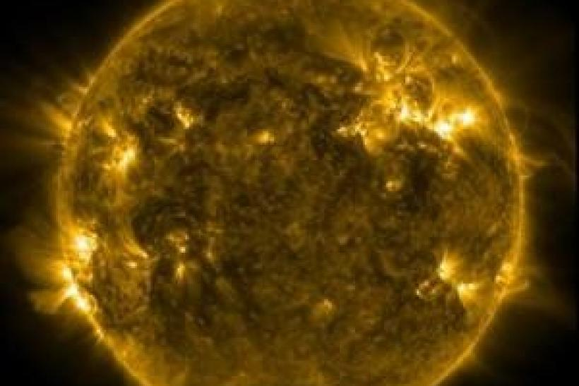 SDO's AIA instrument at 171 Angstrom shows the current conditions of the quiet corona and upper transition region of the Sun as seen in a handout photo released by NASA January 23, 2012.