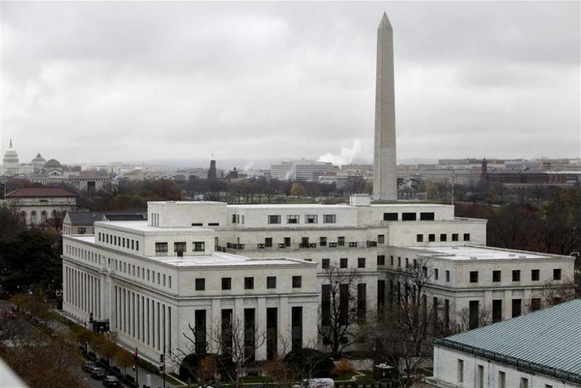 The Federal Reserve building is pictured in Washington