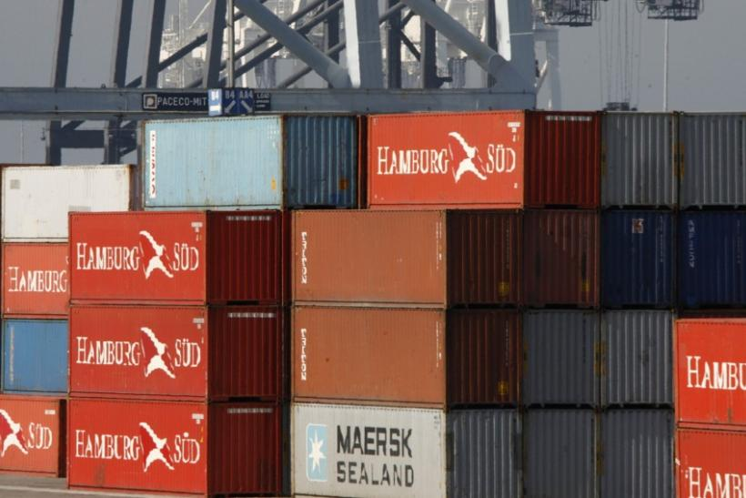 Cargo containers are seen at the Port of Long Beach, California