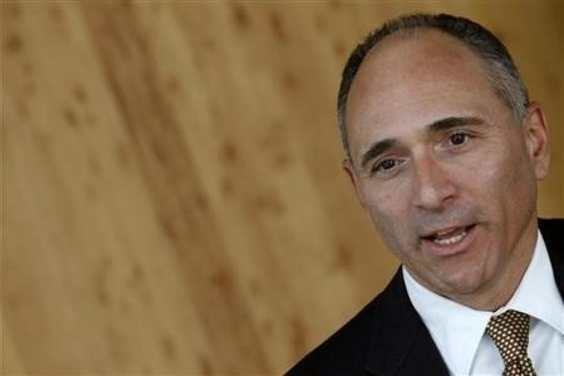 Novartis CEO Joe Jimenez attends an interview with Reuters at the company's headquarters in Basel September 1, 2011.