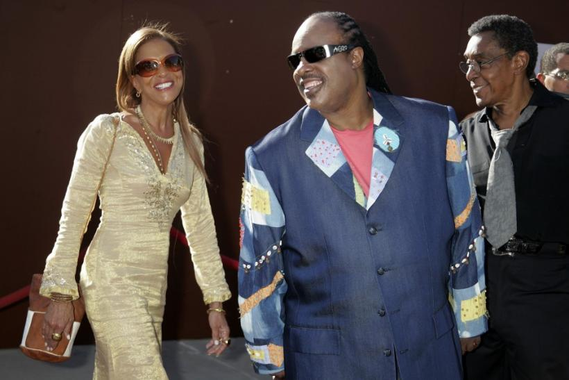Don Cornelius and Singer Stevie Wonder arrives at Lady of Soul Awards in Pasadena