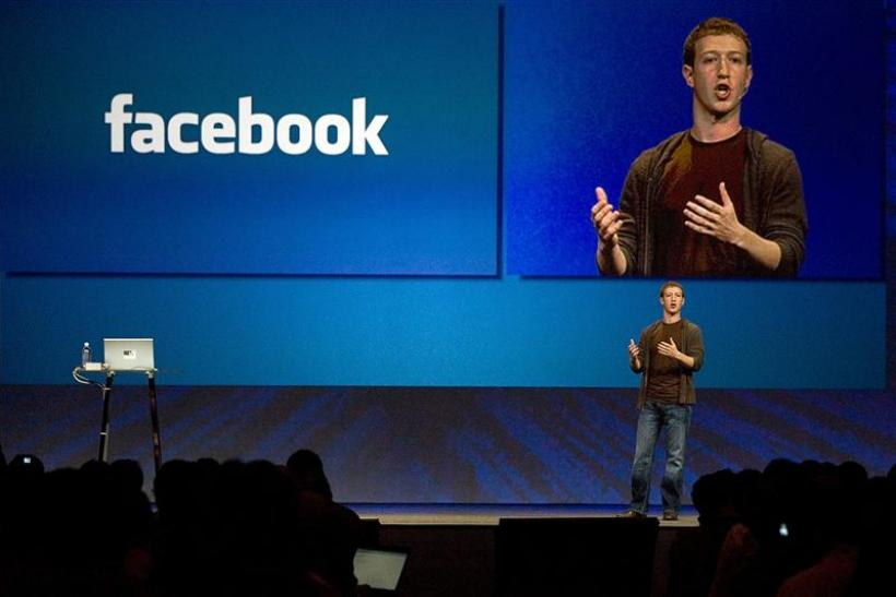 File photo of Zuckerberg, founder and CEO of Facebook, delivers a keynote address at the company's annual conference in San Francisco
