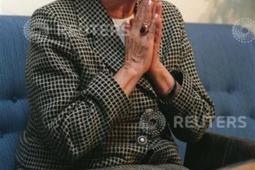 Poland's Wislawa Szymborska, winner of the Nobel prize for Literature 1996,