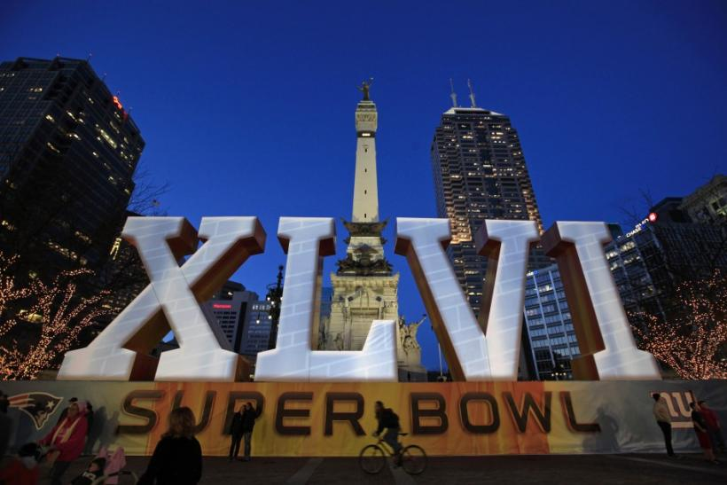 A mural in Indianapolis, part of Super Bowl XLVI festivities.