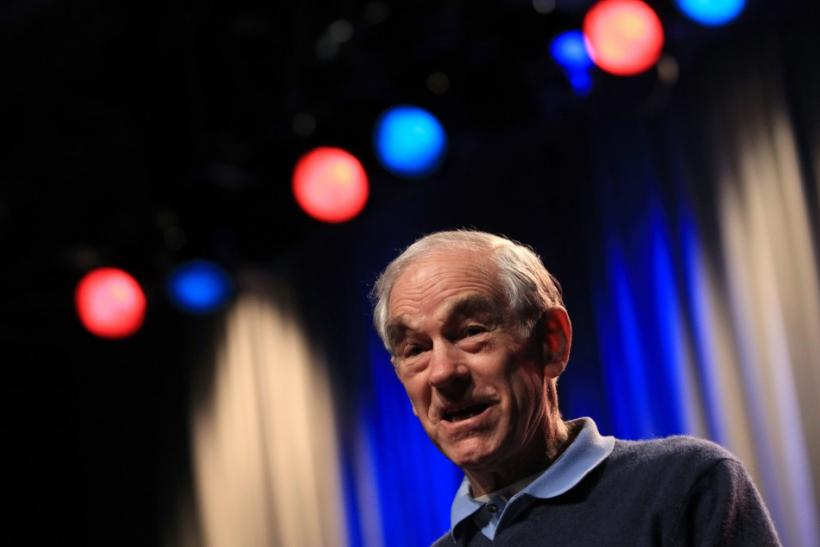 Ron Paul speaks at a campaign event in Reno