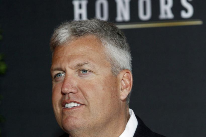 New York Jets' head coach Rex Ryan arrives for the Inaugural National Football League Honors at Super Bowl XLVI in Indianapolis, Indiana