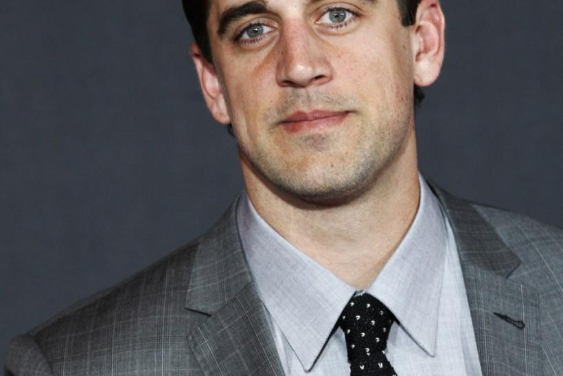 Green Bay Packers quarterback Aaron Rodgers arrives for the inaugural National Football League Honors at Super Bowl XLVI in Indianapolis, Indiana