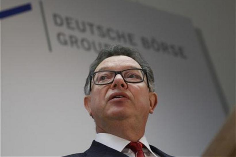 Deutsche Boerse CEO Francioni delivers a speech news conference in Frankfurt