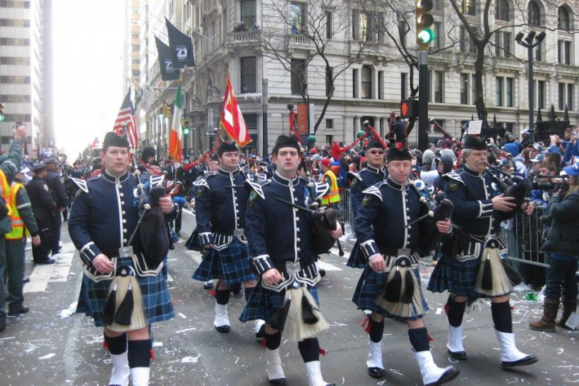Bagpipes on Broadway