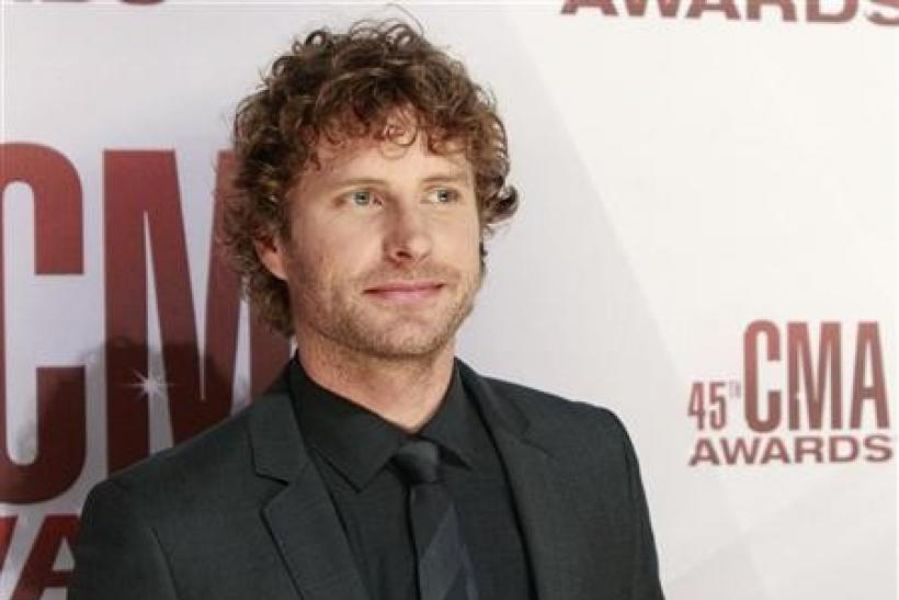 Singer Dierks Bentley arrives at the 45th Country Music Association Awards in Nashville, Tennessee