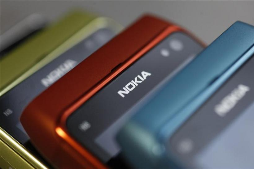Picture shows Nokia mobile phone at a shop in Warsaw