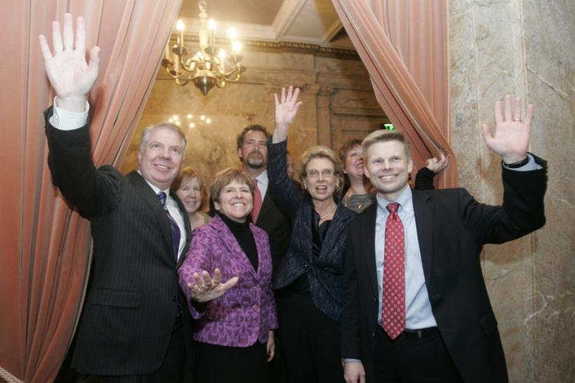 Washington State Senator Murray, Senator Brown, Governor Gregoire and Rep. Pederson