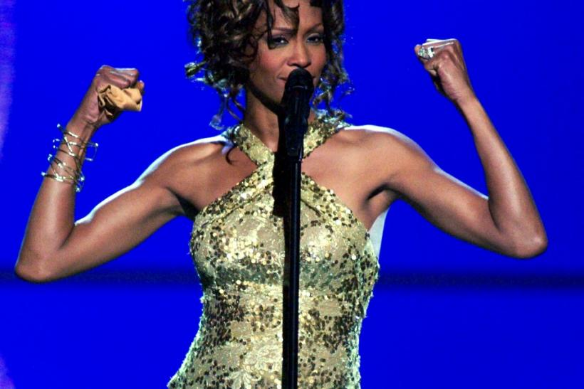 "Singer Whitney Houston performs the song ""Try It On My Own"" during the ""VH1 Divas Duets"" concert at the MGM Grand Garden Arena in Las Vegas, Nevada"