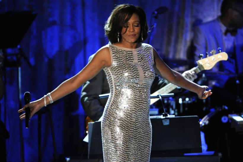 Whitney Houston performs at the Pre-Grammy Gala & Salute to Industry Icons with Clive Davis honoring David Geffen held in Beverly Hills, California, February 12, 2011.