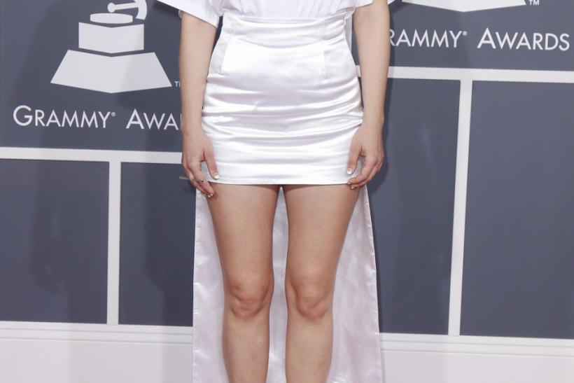 Singer Robyn arrives at the 54th annual Grammy Awards in Los Angeles, California