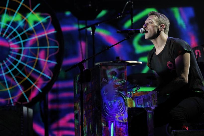 Cold Play singer Chris Martin performs at the 54th annual Grammy Awards in Los Angeles, California