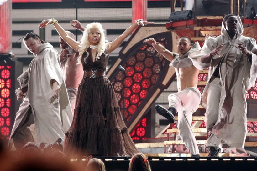 "Nicki Minaj performs ""Roman Holiday"" at the 54th annual Grammy Awards in Los Angeles"