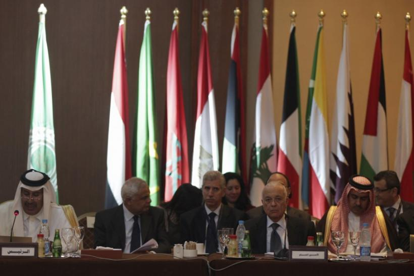 Arab League Secretary General Nabil Elaraby attends the Arab foreign ministers meeting in Cairo