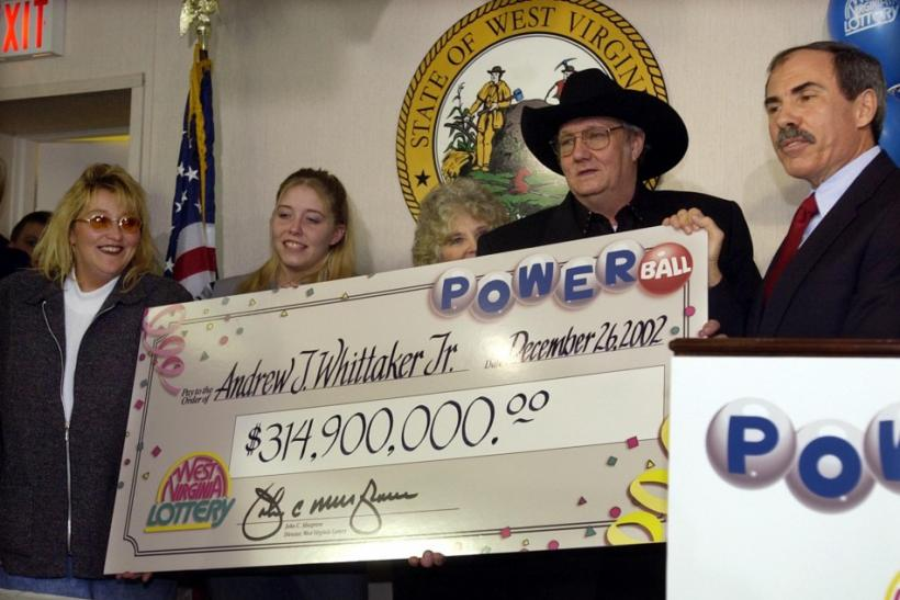 "WEST VIRGINIA LOTTERY WINNER ANDREW ""JACK"" WHITTAKER WITH BIG CHECK."