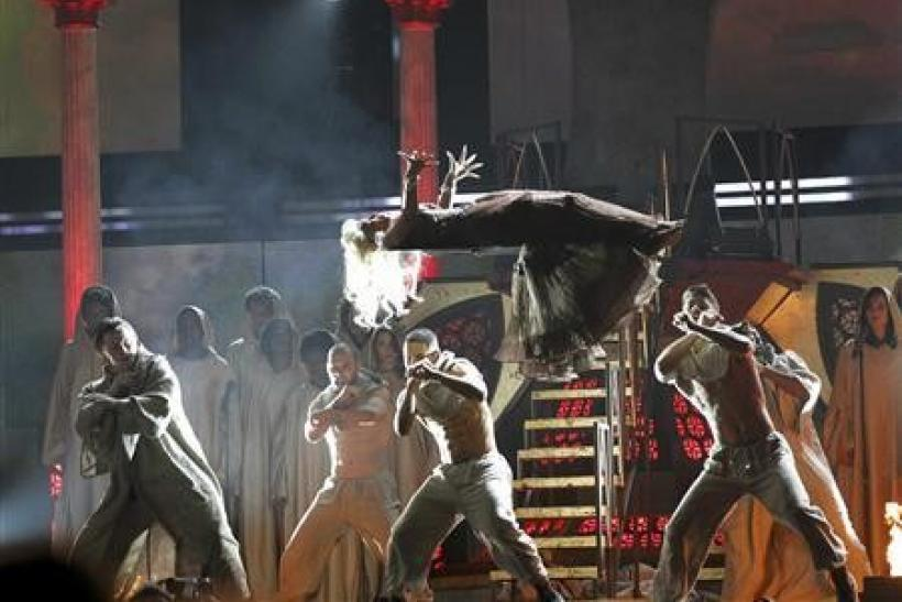Nicki Minaj performs ''Roman Holiday'' at the 54th annual Grammy Awards in Los Angeles, California