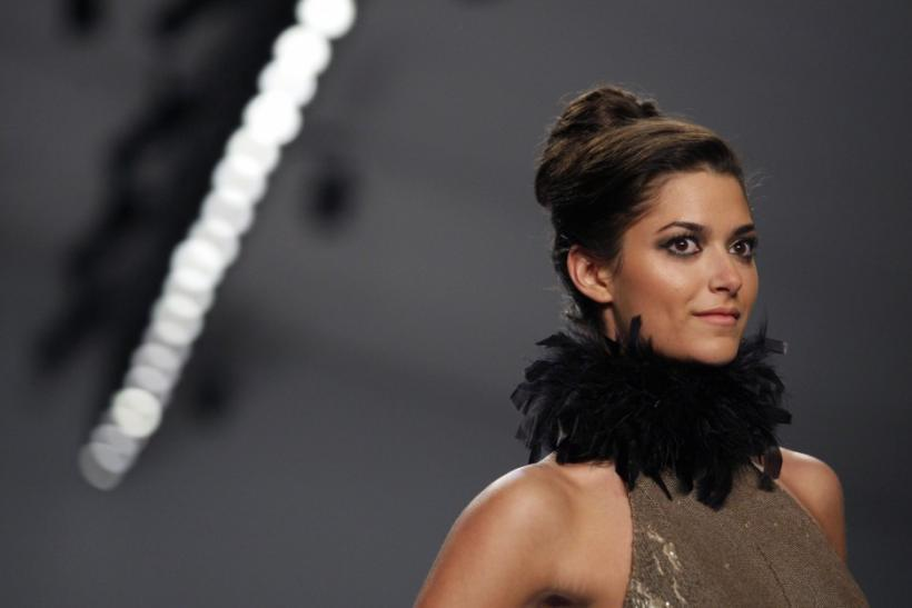 A model presents a creation from the Prete & Bruno Fall/Winter 2012 collection during New York Fashion Week February 13, 2012.