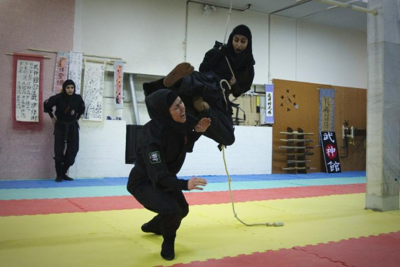 Iran's Female Ninjutsu Warriors: Women Throw Hijab to Become Ninja Assassins