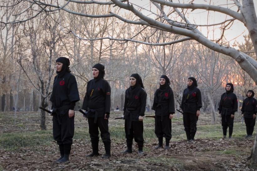 Iran's Female Ninjutsu Warriors: Women Throw Away Hijab to Become Ninja Assassins
