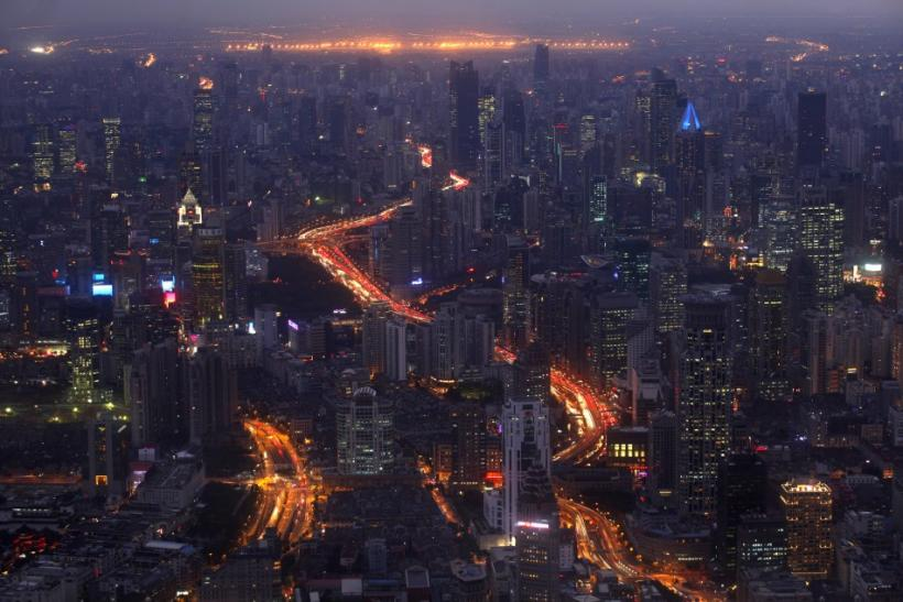 A view of the city skyline from the Shanghai Financial Center building