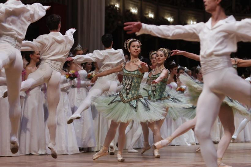 Dancers of the state opera ballet perform during the opening ceremony of the traditional Opernball in Vienna