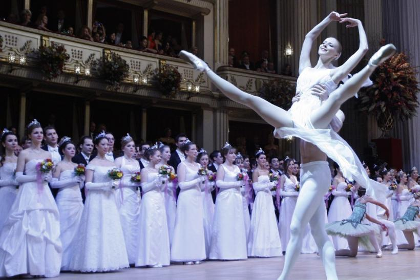 Dancers of the state opera ballett perform during the opening ceremony of the traditional Opera Ball in Vienna