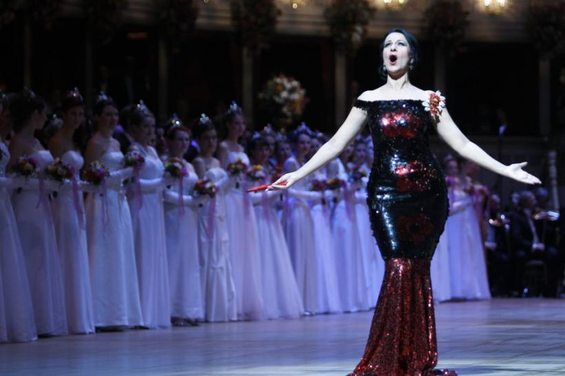 Soprano singer Gheorghiu performs during the opening ceremony of the traditional Opera Ball in Vienna