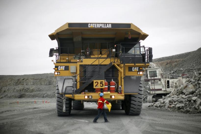 Truck at Agnico-Eagle mine near Baker Lake, Canada