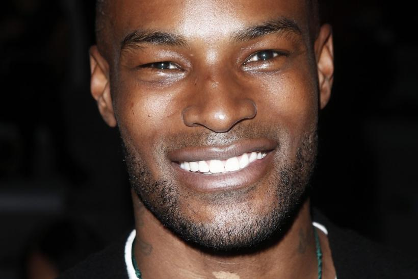 Model Tyson Beckford arrives for the Nanette Lepore Fall/Winter 2012 collection during New York Fashion Week February 15, 2012.