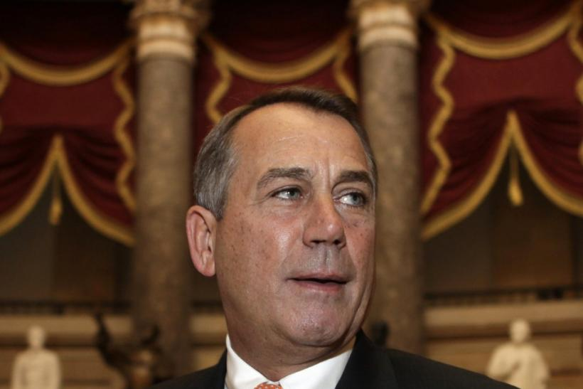 House Speaker John Boehner took issue with some provisions of the payroll tax holiday extension bill.