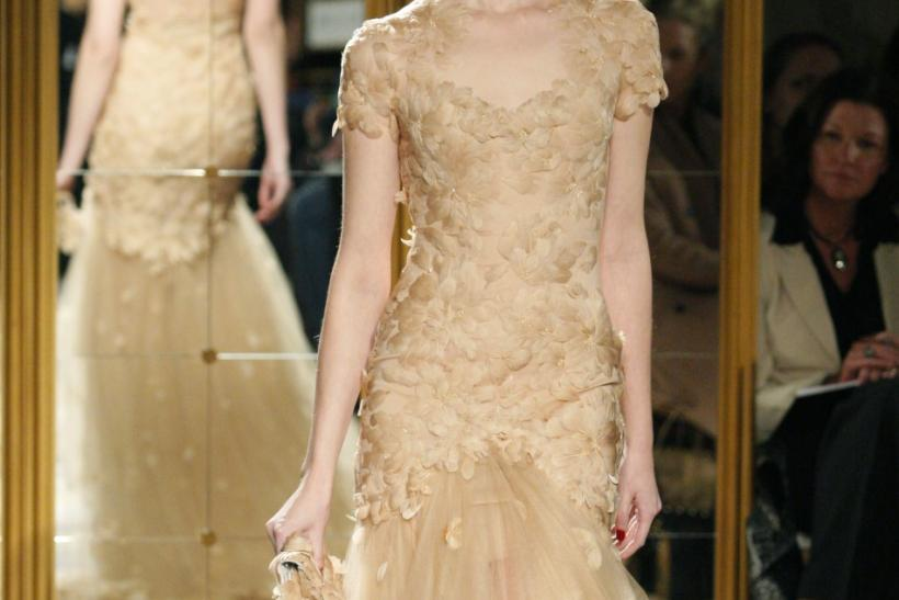 A model presents a creation from the Marchesa Fall/Winter 2012 collection during New York Fashion Week February 15, 2012.