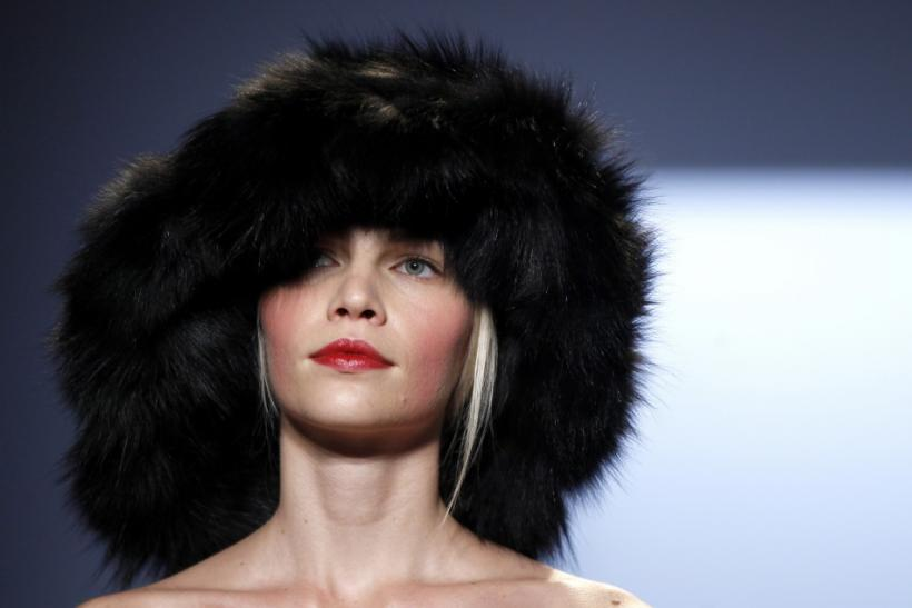 A model presents a creation from the Michael Kors Fall/Winter 2012 collection during New York Fashion Week February 15, 2012.