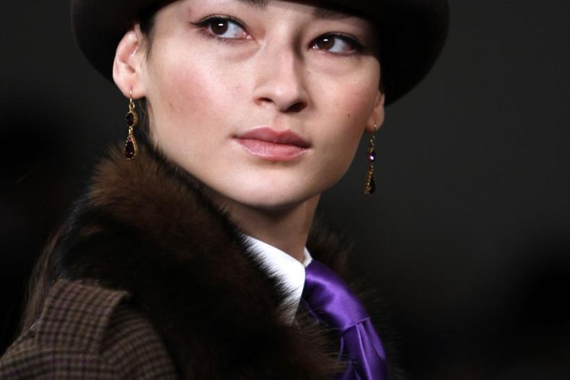 A model presents a creation from the Ralph Lauren Fall/Winter 2012 collection during New York Fashion Week, February 16, 2012.