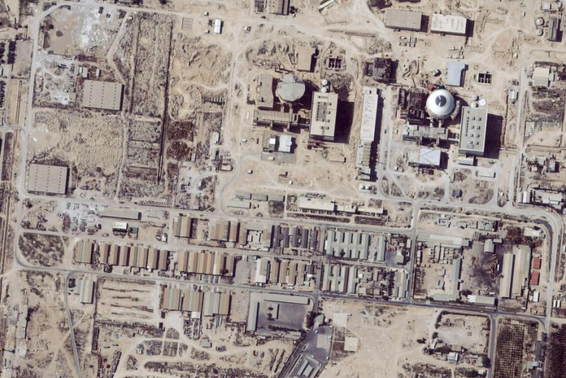 Satellite image shows the nuclear facility at Bushehr, Iran,