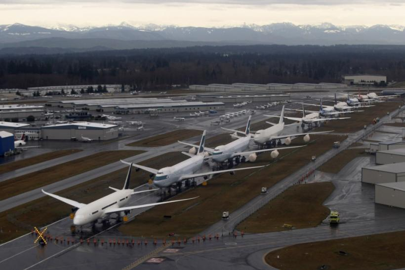 Boeing 787 Dreamliners in Everett, Washington