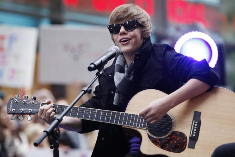 Singer Justin Bieber performs on NBC's Today Show in New York, October 12, 2009.