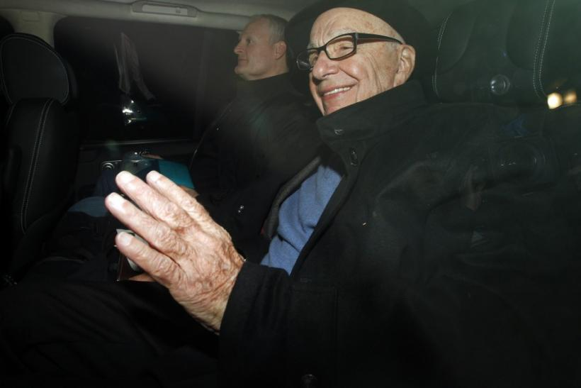 News Corp Chief Executive and Chairman Rupert Murdoch arrives in central London