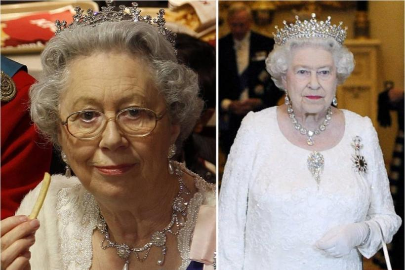 Queen Elizabeth and her lookalike