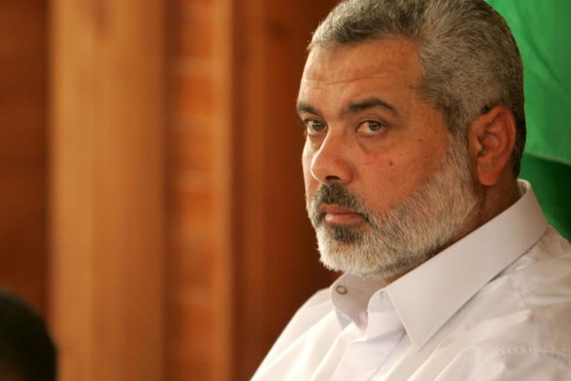 Hamas leader Ismail Haniyeh gave a speech in Egypt in support of the Syrian uprising