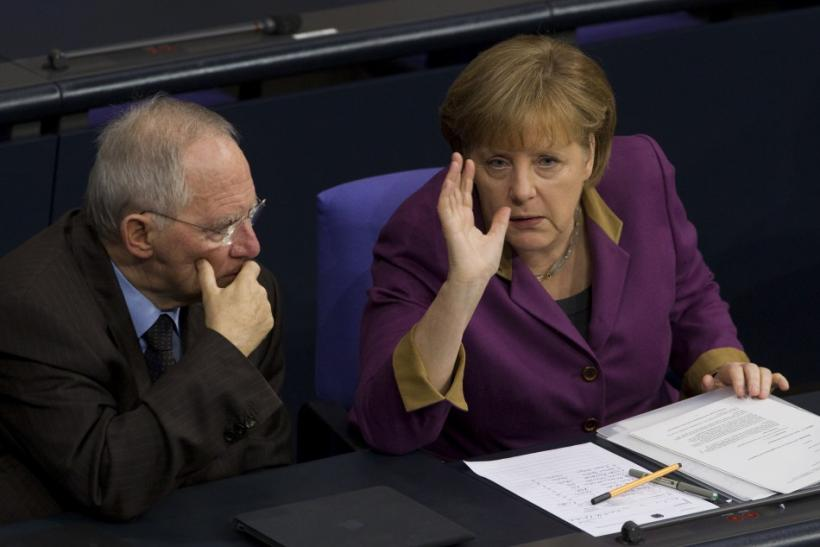Chancellor Merkel and Finance Minister Schauble