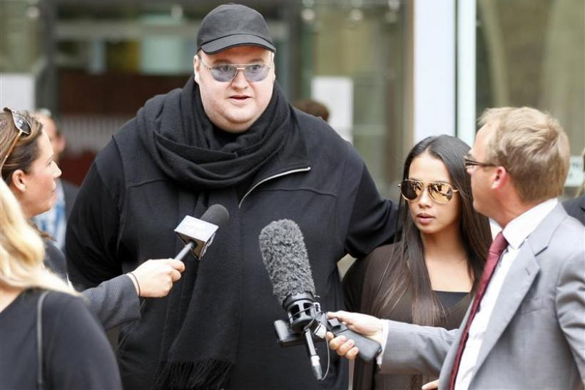 Megaupload, Megavideo founder Kim Dotcom after being released on bail