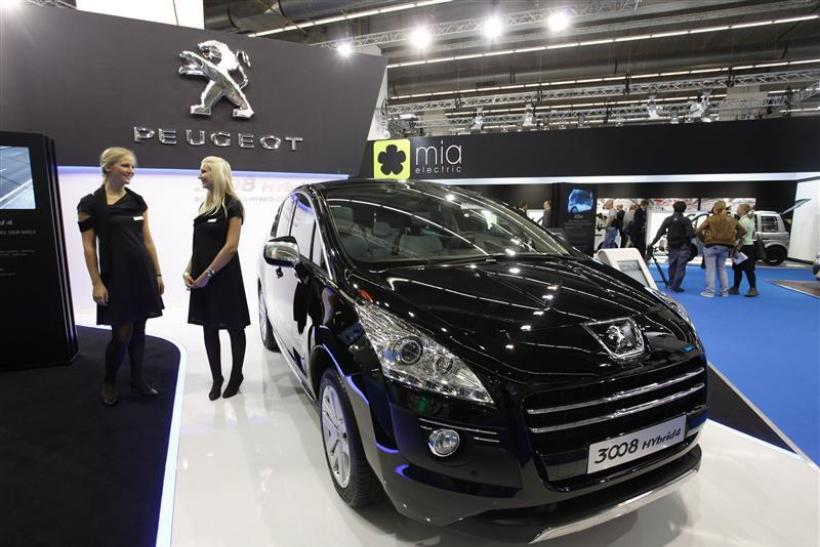 The Peugeot 3008 Hybrid4 is pictured during the International Motor Show in Frankfurt